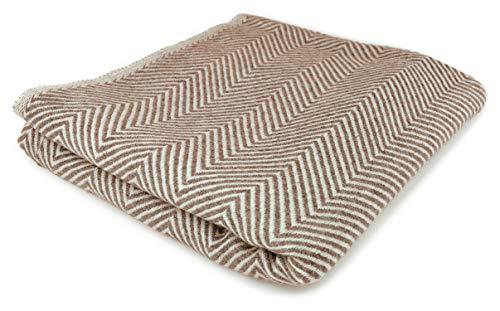 Youni Home kasjmier deken 125x230 cm voor bank sofa bed 100% Cashmere exclusieve knuffeldeken uit kashmir ook geschikt als sprei plaid Made in India
