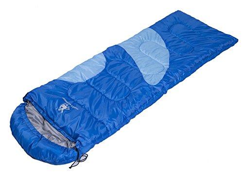 Enveloppe sac de couchage en coton individuel Printemps et automne fournitures de camping en plein air 1,35 kg / 2,0 kg coton 200 * 80 cm , blue , 1.35kg