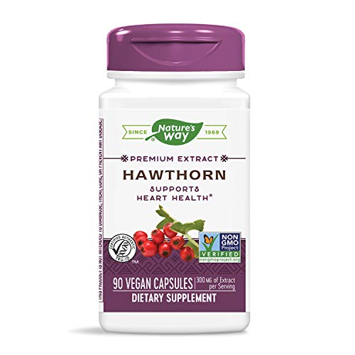 Nature's Way Hawthorn Standardized Heart Function 1.8% Flavonoids, 300 mg of Extract per serving, 90 Capsules