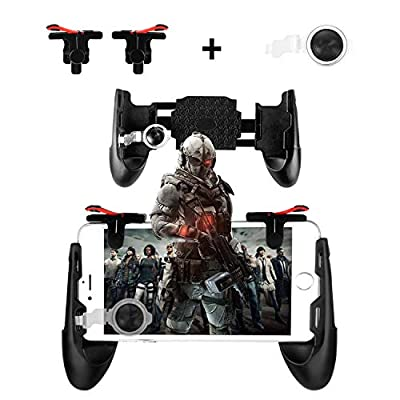 Newseego Mobile Game Controllers, Phone Triggers for Mobile Phone, Shooter Sensitive Controller Joysticks Gamepad for Knives Out/Rules of Survival(1 Pair Triggers + 3 in 1 Portable Gamepad) by Newseego