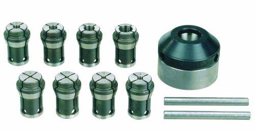 Proxxon 24042 24 042 Spannzangeneinrichtung mit Spannzangen für PD 230/E, schwarz/edelstahl