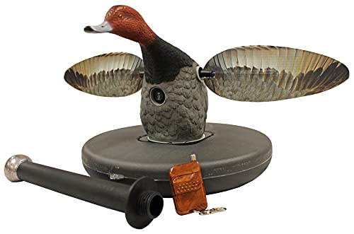 MOJO Outdoors Elite Series Floater Redhead - Duck Hunting Motion Decoy, Includes Bar & Remote
