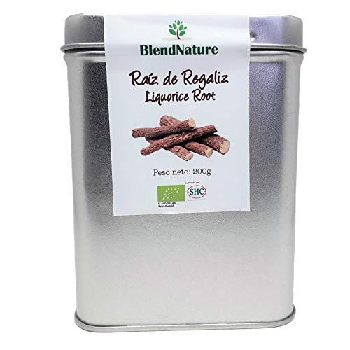 Regaliz en Palo - Raiz 100 % Natural– Lata 200 gr Maxima Frescura y Conservacion - Agricultura Ecologica Certificada.
