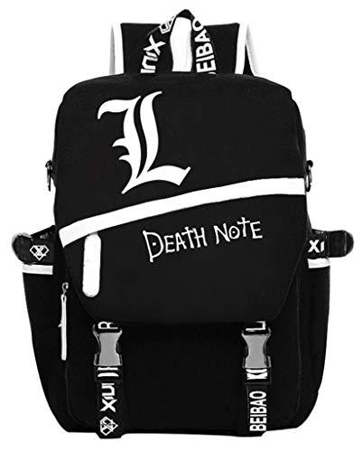 Cosstars Death Note Anime Leuchtend Laptoprucksack Backpack Studenten Schulrucksack Büchertasche Tagesrucksack Schwarz