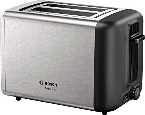 Bosch Elettrodomestici TAT3P420 Tostapane Compatto DesignLine, 970 W, acciao Inox