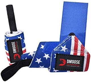 DMoose Fitness Wrist Wraps for Weightlifting Powerlifting Strength Training Benching Bodybuilding product image