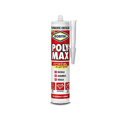 Bostik Colla di Montaggio Polymax Silicone Trasparente Cristallino Box doccia cemento ferro ecc.