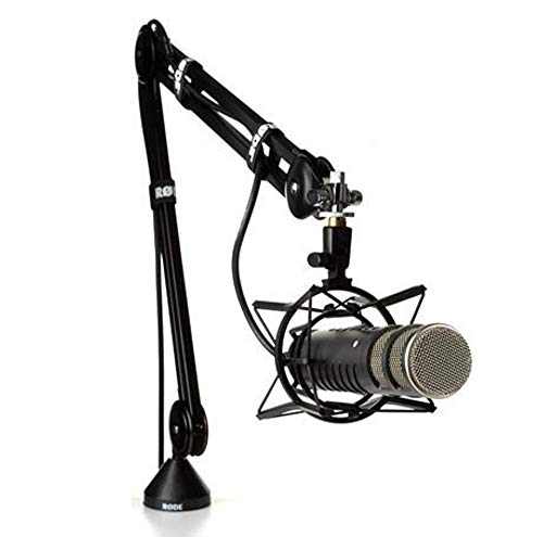 Rode Procaster Broadcast Quality Dynamic Microphone with Rode PSA 1 Mount Studio Mic Boom Arm & PSM 1 Shockmount Bundle