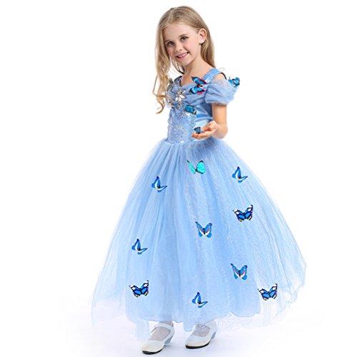 URAQT Mädchen Prinzessin Kleid Verrücktes Kleid Partei Kostüm Outfit