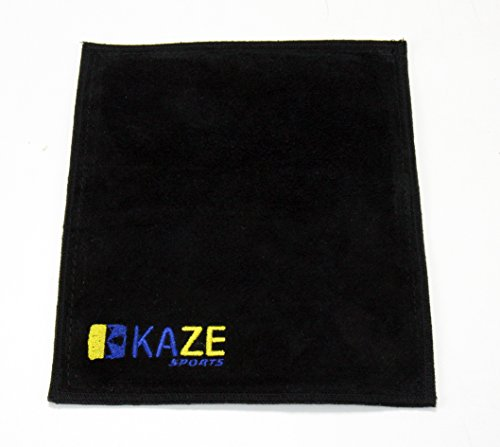 KAZE SPORTS Premium-Leder Shammy Pad Bowling Ball Reinigung Handtuch, Schwarz