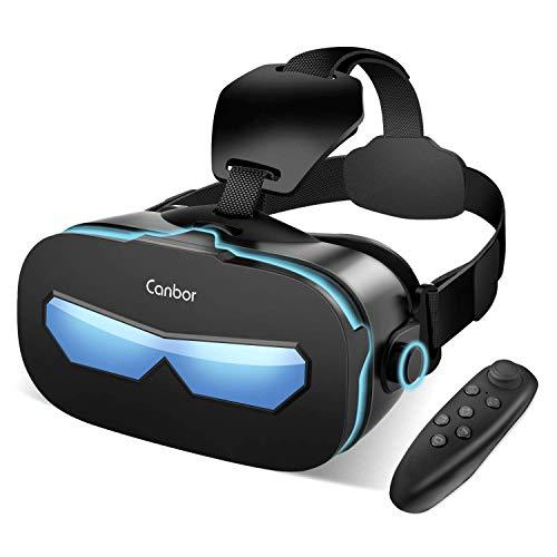 Canbor VRゴーグル VRヘッドセット VRグラス 3Dメガネ 動画 ゲーム 映画 Bluetoothコントローラ付き 4.0-6....