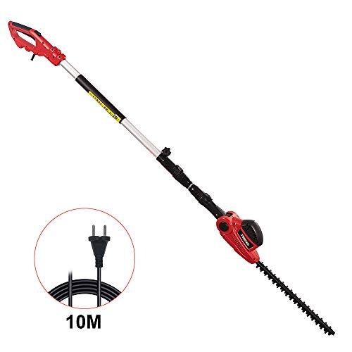 TEENO Taille-haies Télescopique électrique et 10m cable(500 W, Longueur de coupe 45 cm, Ecartement...