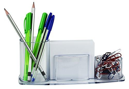 acrimet Millennium Schreibtisch Organizer Bleistift Papier Clip Becherhalter (mit Papier) kristall
