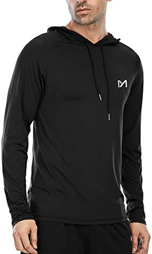 Athletic Shirt for Men Long Sleeve Workout Running Gym Shirt with Hood Lightweight Dry Fit Sweatshirts product image