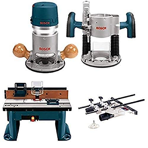 Bosch 1617EVSPK 12 Amp 2-1/4-Horsepower Plunge and Fixed Base Variable Speed Router Kit with Benchtop Router Table and Deluxe Router Edge Guide