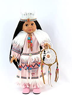 Pink Native American Outfit with Dreamcatcher | Fits 18