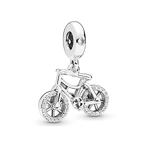 Pandora 925 Sterling Silverbead Brilliant Fahrrad Anhänger Charm Fit Mode Frauen Bangle diy Liebe Schmuck