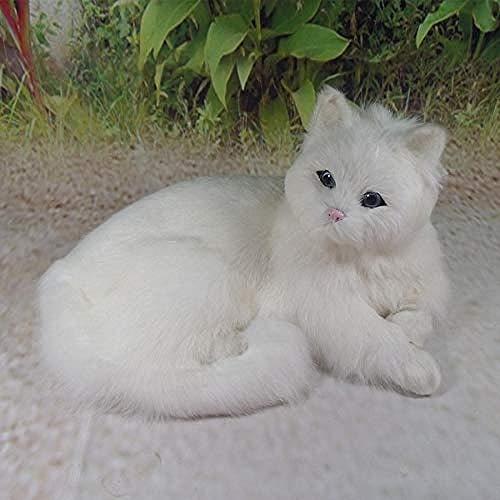 Ornamenten Beeldhouwwerk Woondecoratie Verjaardagscadeau Dier Kat Witte Tuindecoratie