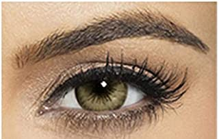 Bella Diamond Collection Unisex Cosmetic Contact Lenses - Carribean Green - [ BL-CA-GN Power 0.00]