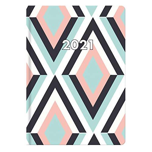 Idena 10974 - Taschenkalender 2021, DIN A7, aus FSC-Mix, Marina retro, 1 Stück