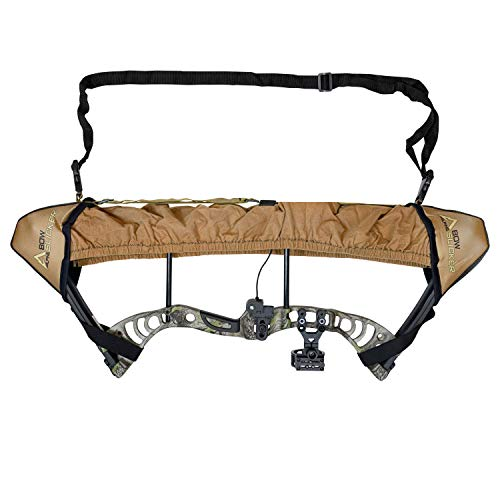 Slicker Weatherproof Bow Sling for Archery, Soft and Compact Bow Case for Hunting Gear Accessories, Cam and String Protector - Dark Earth Tan (G54)