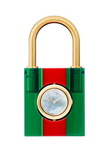 Gucci Damen Uhren Band Quarz Leder Armband YA150501