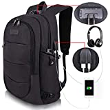 Travel Laptop Backpack Water Resistant Anti-Theft Bag with USB Charging Port and Lock...