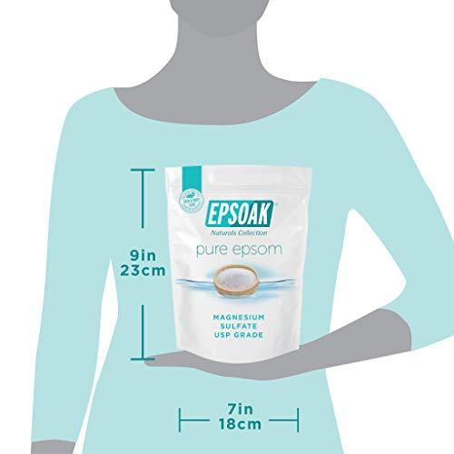 Ultimate Epsoak Epsom Salt Bath Soak Bundle (6 lbs. Total) – Sleep Formula Bath Salt, Muscle Soak Bath Salt, Original Unscented Epsom Salts