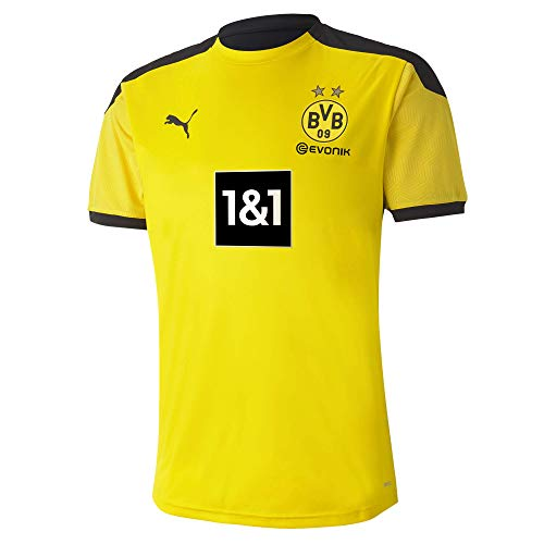 PUMA Herren T-Shirt BVB Training Jersey New, Cyber Yellow-Puma Black, L, 931127