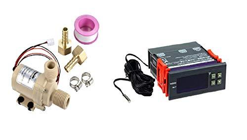 DC 12V Solar hot water pump and DC 12V temperature controller 10A