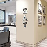 CrazyDeal Eat Sign Letters Rustic Farmhouse Kitchen Wall Decor Acrylic Decorative Mirror Wall Stickers for Dining Room Living Room Bedroom The Home Modern Decorations Large 38x10 Inch