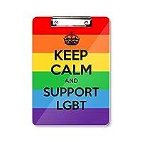 ゲイ、レズビアン、トランスジェンダーのバイセクシャルの旗のイラスト フラットヘッドフォルダーライティングパッドテストA4