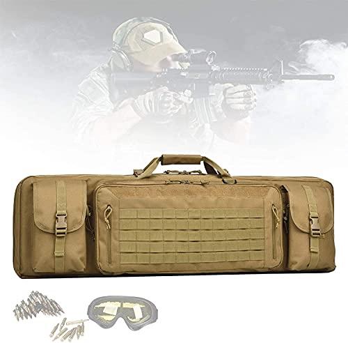 LSWY Mochila de Airsoft, Bolsas de Rifle con Estructura de poliéster de PVC 1000D, Gran Capacidad, coloque Dos Rifles, protección de separación Central, Bolsa de Caza para la Caza, Disparos, Pesca