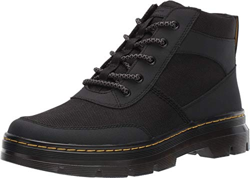 Dr. Martens Bonny Tech Ankle Boot, Black Extra Tough Poly+Ajax, Womens 11/Mens 10