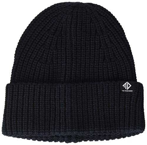 TOM TAILOR Denim Herren Struktur Beanie-Mütze, 10668-Sky Captain Blue, OneSize