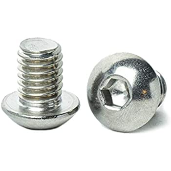 Stainless Steel 18-8 Machine Thread Bright Finish Quantity 10 By Fastenere Lightning Stainless Allen Socket Drive Full Thread 3//8-16 x 2 Button Head Socket Cap Screws