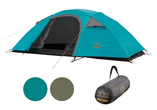Grand Canyon APEX 1 - Tenda a cupola per 1-2 persone | ultraleggera, impermeabile, di piccole dimensioni | tenda per il trekking, campeggio, all'aperto | Blue Grass (blu)