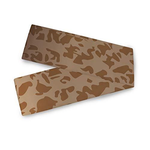 DEZIRO Tafelloper Camouflage Lederen Verpakking Textuur Thuis Decor Tafeldoek Runner voor Bruiloft Partij Banket Decoratie