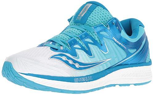 Saucony Women's Triumph ISO 4 Sneaker, White/Blue, 090 M US