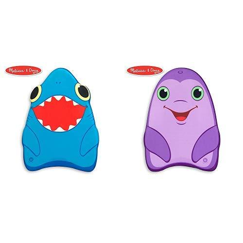 Melissa & Doug Sunny Patch Spark Shark Kickboard - Learn-to-Swim Pool Toy Sunny Patch Dart Dolphin Kickboard - Learn-to-Swim Pool Toy