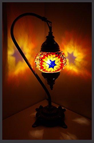 Mosaiklampe Mosaik - Stehlampe S Tischlampe orientalische lampe Orange Samarkand-Lights
