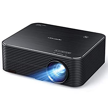 Projector APEMAN Native 1920x1080P HD Portable Projector Support 4K 300  Screen for Home Theater/Outdoor Movie 4D Electronic Keystone 75% Zoom for Smartphone,PC,Xbox,PS4,TV Stick 2021 Upgrade