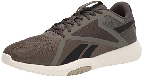 Reebok Flexagon Force 2.0 Cross Trainer para mujer, negro (Negro/Gris místico/Verde álamo), 45 EU