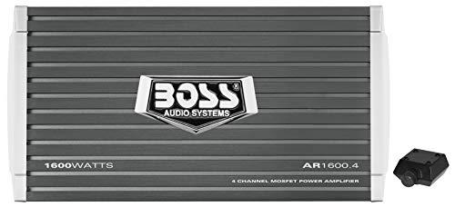 BOSS AR1600.4 4.0channels Coche Alámbrico Gris - Amplificador de audio (4.0 canales, 400 W, 0,01%, 105 dB, 160 W, 800 W)