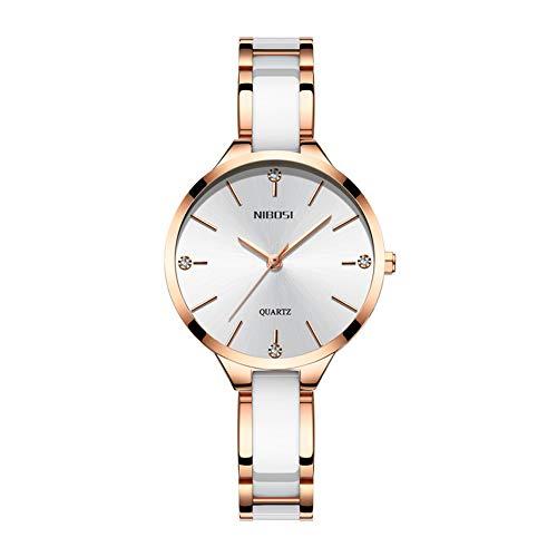 NIBOSI Watch Damenuhren Keramik Armband Damen Kreative Damenuhr Damenuhr