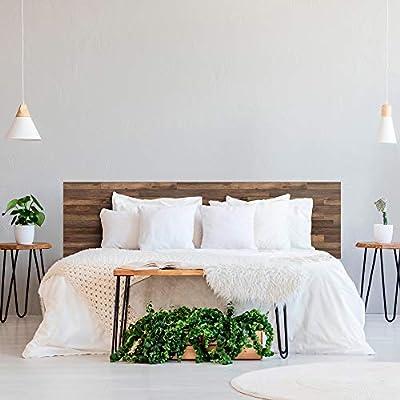 ✅ Cabecero para cama impreso en PVC de 3 mm con textura de madera oscura. Nuevo producto disponible en varios tamaños para completar la decoración de tu habitación. ✅ Disponible en varios tamaños para que elijas la que mejor se adapte a tu necesidad....