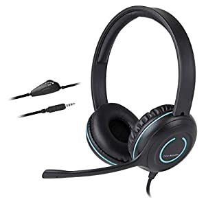 Cyber Acoustics 3.5mm Stereo Headset with Headphones and Noise Cancelling Microphone – 20 Pack – for PCs, Tablets, and…
