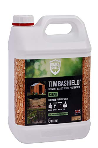 Timbashield Woodstain/Treatment - Premium Solvent Based Protection - 5 Litre - Various Colours (Clear)