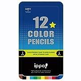 トンボ鉛筆 色鉛筆 ippo! スライド缶入 12色 プリント Boy CL-RRM0412C