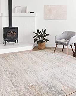 "Loloi II Lucia Collection Distressed Abstract Area Rug, 7'-9"" x 10'-6"", MIST (B07R23TQQ1) 